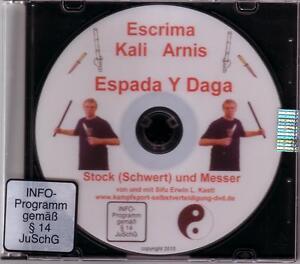 DVD Escrima Kali Arnis  Espada Y Daga Selbstverteidigung mit Stock und Messer