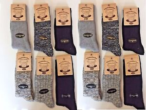 12 Pairs Men's Thick Chunky Wool Work Hiking Boot Socks Size UK  6-11 PTKMH
