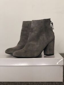 0fff2fb1730 Image is loading Steve-Madden-Cynthia-Women-Round-Toe-Suede-Gray-