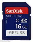 Sandisk 16GB Class 4 SD SDHC Secure Digital Flash Memory Card Refurb