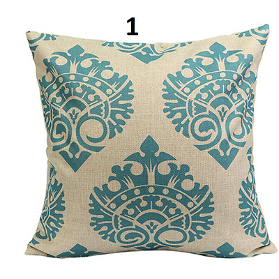Cushion Cover Pillow Case Home Sofa Decor Linen Geometric Flower Set Hot Vintage