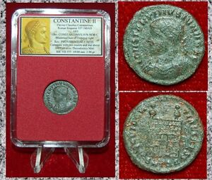 Ancient-Roman-Empire-Coin-Of-CONSTANTINE-II-Campgate-On-Reverse