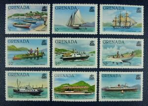 Grenada-1982-Schiffe-Ships-Navi-Bateaux-Freimarken-ex-1047-64-JZ-1982-9-MNH