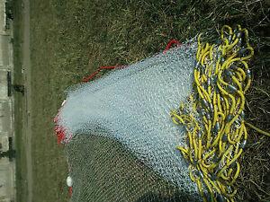Sandeel-Minnow-seine-net-50-039-to120-039-fishing-bait-5-8-inch-Mesh-optional-Cod-End