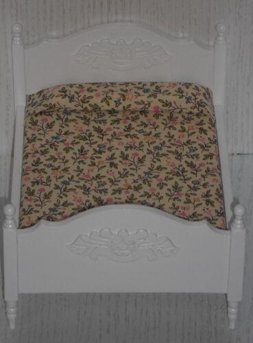 Lit double/lit blanc, échelle 1:12, miniature F. D. poupée/Maison de Poupée #14#