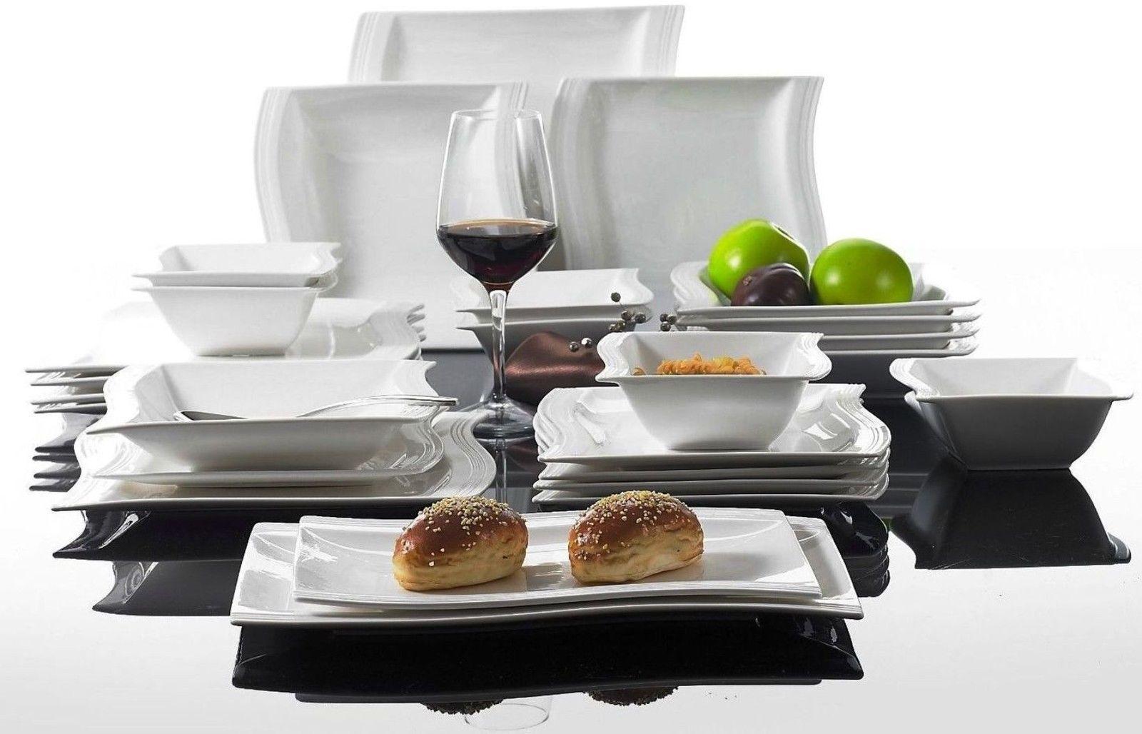 Set da pranzo moderno 26pc SET DA CENA IN CERAMICA stoviglie servizio per 6 Piatti Ciotole