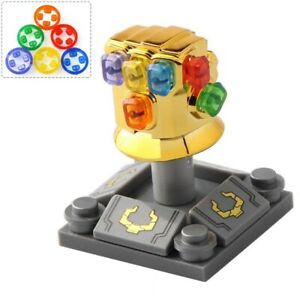Thanos Gauntlet Infinity War Chrome Gold Infinity Gauntlet Custom Minifigure