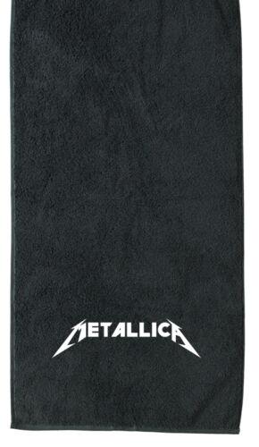 Größen Metallica Handtuch Duschtuch Badetuch Saunatuch BESTICKT versch