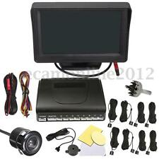 4.3 '' LCD DISPLAY MONITOR CON BACKUP CAMERA + 8 PARCHEGGIO SENSORI RADAR KIT