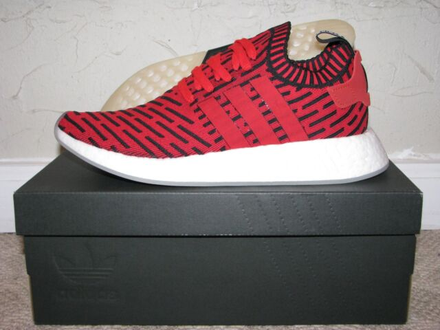 e053a91ee adidas NMD R2 PK Primeknit Red   Black Mens Size 9.5 DS NEW! BB2910 Boost