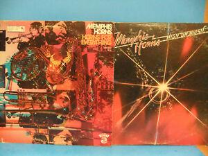 Memphis-Horns-LP-LOT-Horns-For-Everything-1972-Promo-amp-High-On-Music-1976-Funk