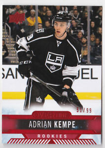 official photos 21a94 c7f1a 17-18 Upper Deck Overtime Adrian Kempe /99 Rookie RED ...