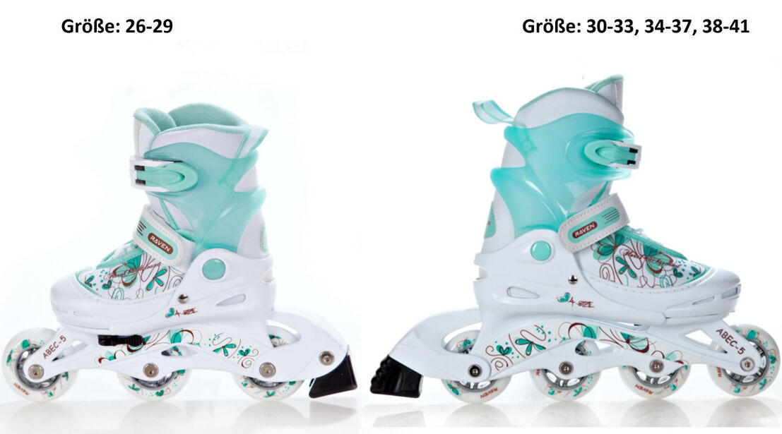 Kinder Inlineskates Inliner SCREW SATINE Green//Pink 26-29 30-33 38-41 34-37