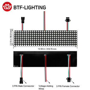 8*32 WS2812B RGB LED Digital adressable individuellement Écran de pixel flexible