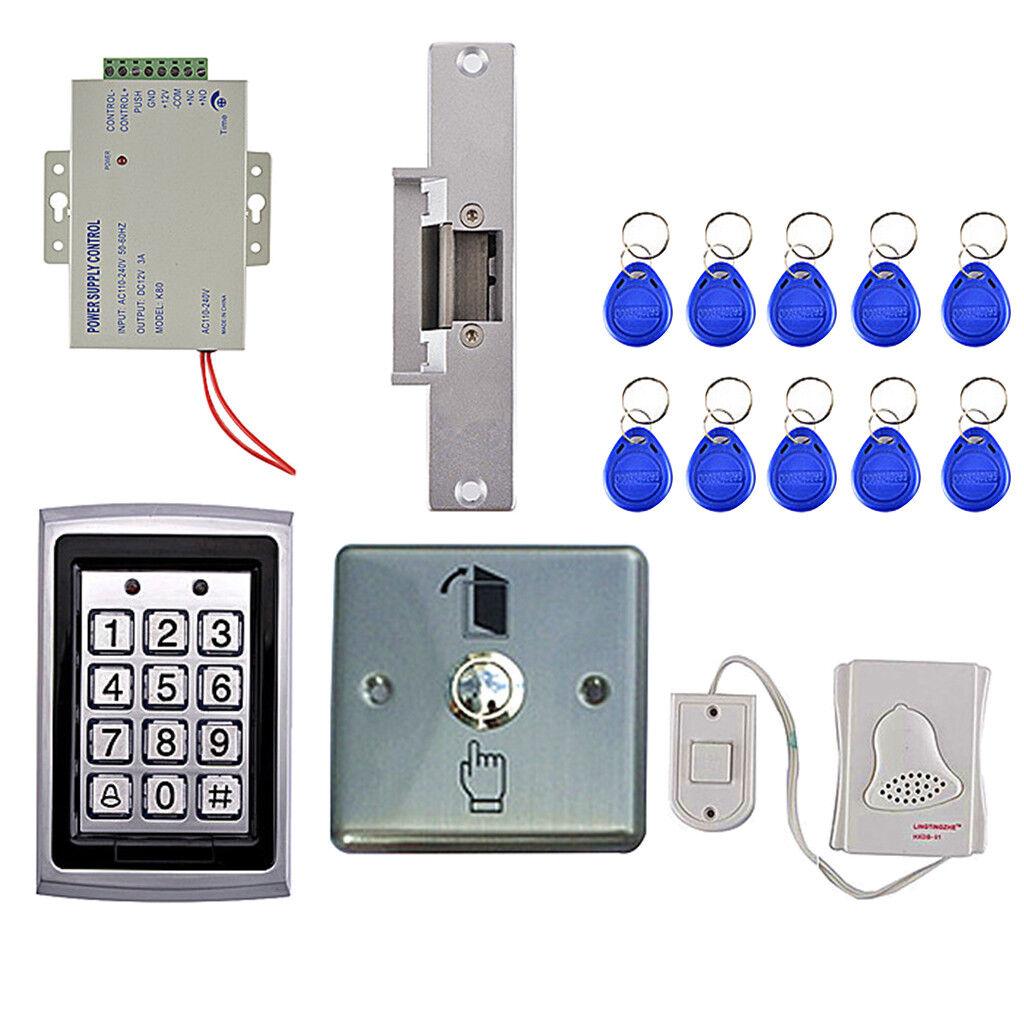 Juego completo sistema de control de acceso puerta puerta de entrada de acceso controlador Kits