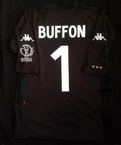Italie Gardien De but Chemise Rétro Coupe Du Monde 2002, BUFFON, tailles M L