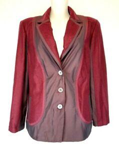 34) Marken RABE Damen Jacke Wolle Wolljacke Gr. 48 4XL Neu 149,95€ Weinrot