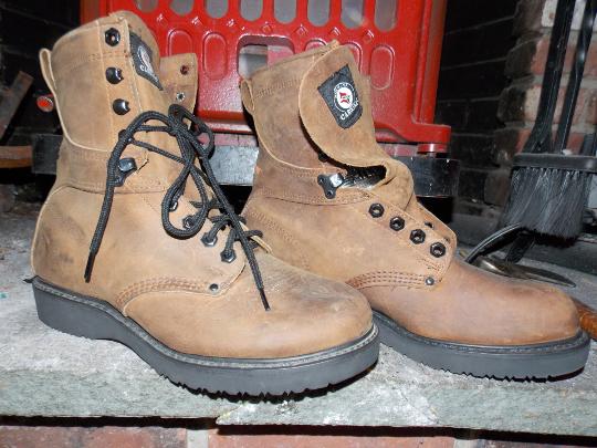 Vintage CAROLINA braun Leather Work Stiefel Größe 8.5 EE Made In USA
