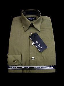 NEW BOYS Olive LONG Sleeve Dress Shirt, ALL SIZES(4~20)