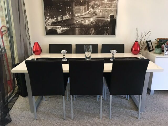 Toronto 7 Piece Dining Set With Replica Bamboo Tolix Chairs Black By Fantastic F For Sale Online Ebay