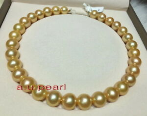 AAAAA-18-034-12-13MM-NATURAL-real-south-sea-deep-golden-pearl-necklace-14K-gold