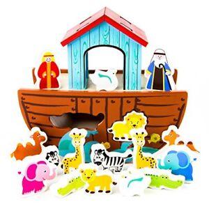 Noah-039-s-Ark-Wooden-Shape-Sorter-Spiritual-Worship-Toys