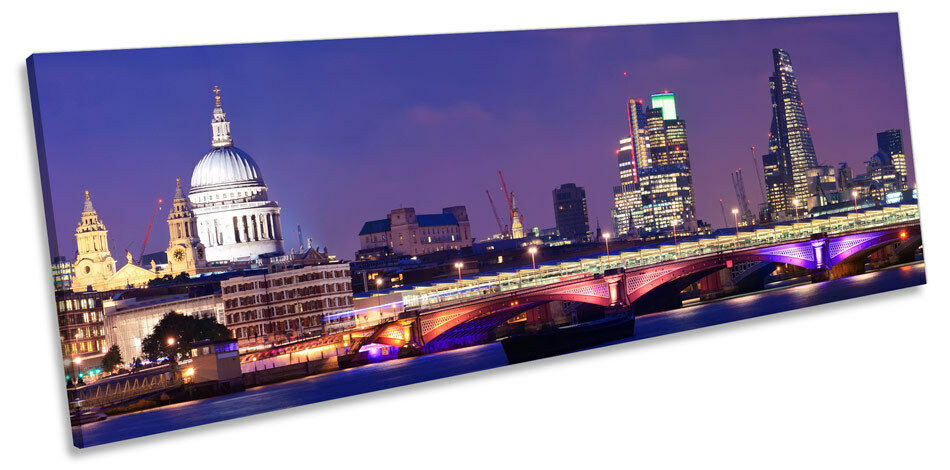 Stadt of London Skyline Panoramic CANVAS Wand Kunst Framed Drucken