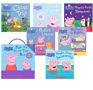 Peppa-Pig-Peppa-039-s-Storytime-Box-2016-Paperback-Ballet-Bedtime-Class-Trip-6pk