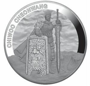 CHIWOO-CHEONWANG-2019-1-Clay-1-oz-Pure-Silver-Proof-Medal-South-Korea-KOMSCO