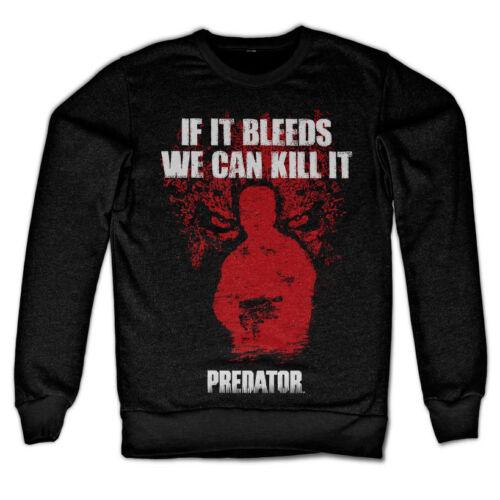 Officially Licensed Predator Black If It Bleeds Sweatshirt S-XXL Sizes
