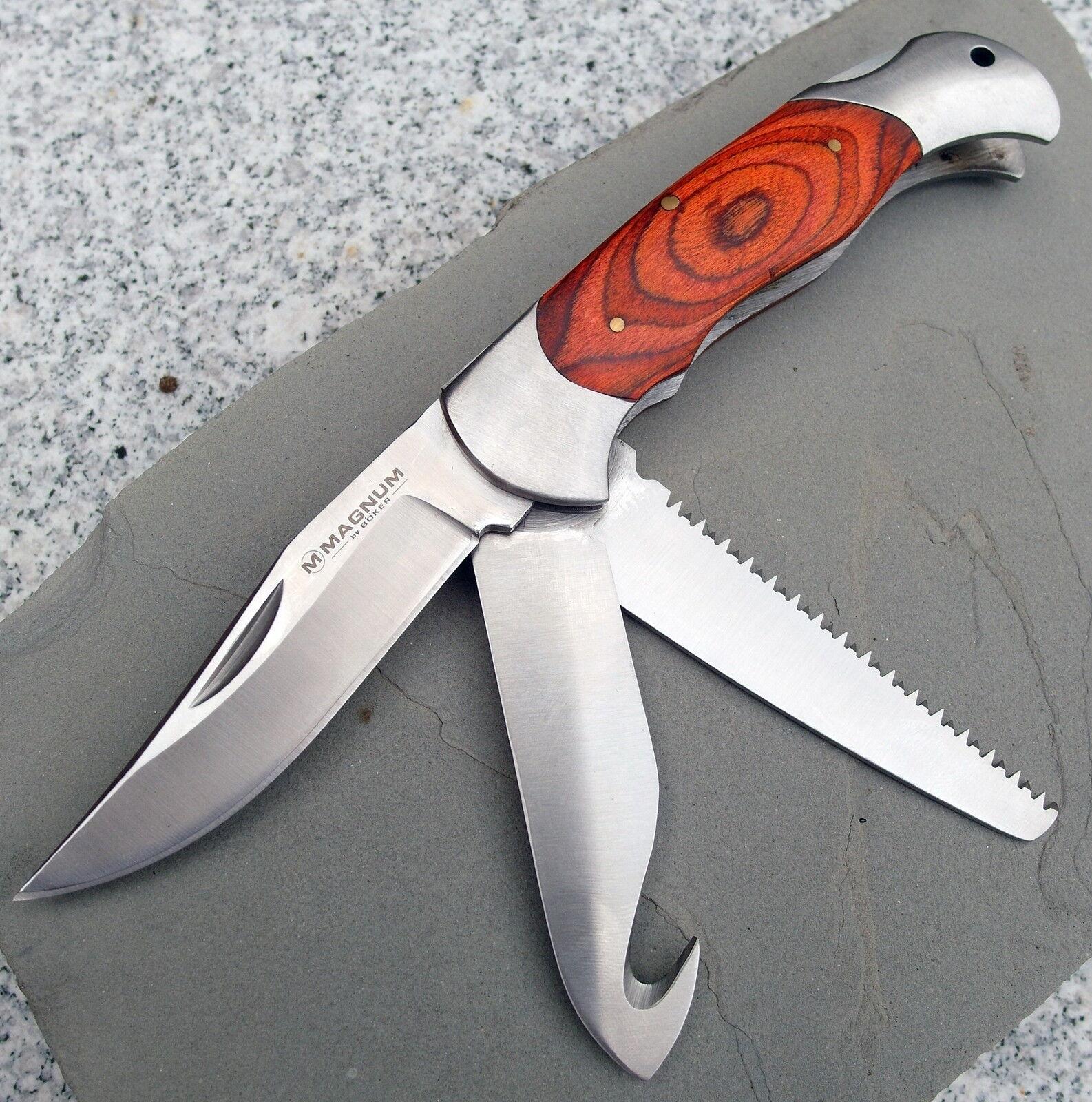 NEU  BÖKER  Magnum Classic Hunter Messer - Taschenmesser - Jagdmesser - 01MB136  | Lebensecht