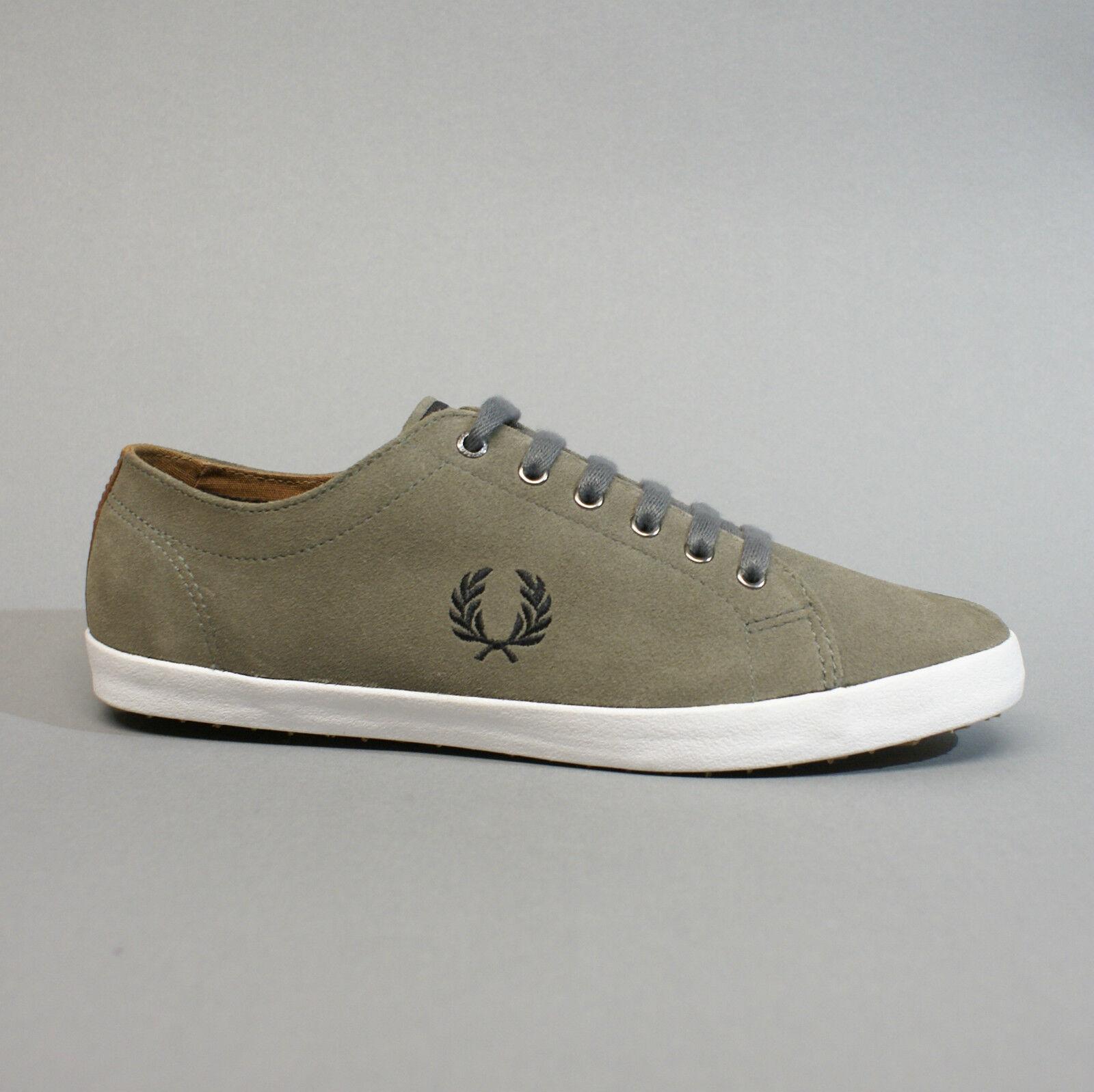 Fred Perry Kingston Suede Mid Grey B6238-614 Turnschuhe Sneakers grau Wildleder