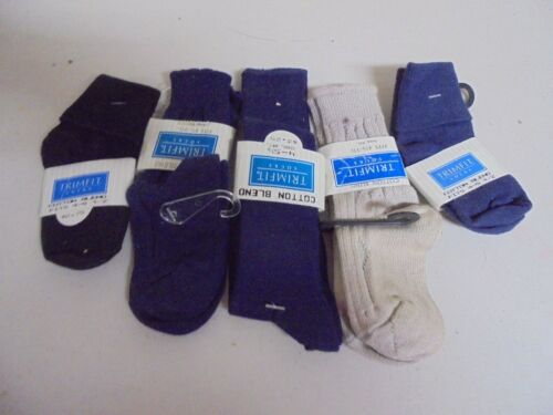 Vintage Boys Lot of 5 Assorted Colors & Styles 4-5 Socks (19)