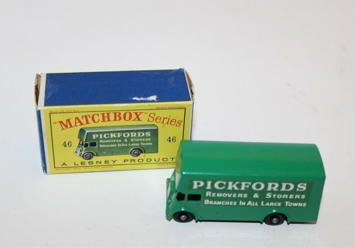 garantía de crédito Matchbox Pickfords eliminación van Diecast Caja Caja Caja original no 46 Lesney  moda