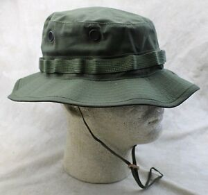 bbf5ae8f714b5 NEW GENUINE US ISSUE BOONIE HAT JUNGLE OD GREEN TYPE-III RIPSTOP ...