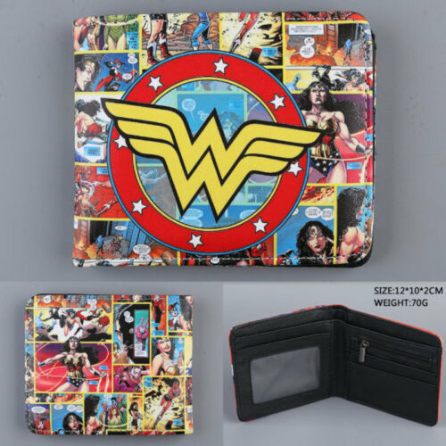 DC comics wonder woman Coin Wallet tri fold Hasp Fashion Lady/'s Purse Clutch New