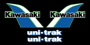 1982 KAWASAKI KX KDX 80 GAS TANK DECAL KIT VINTAGE MOTOCROSS