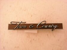 1968 Town and Country EMBLEM Station Wagon NOS MoPar