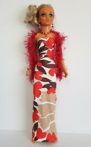 OOAK-TIFFANY-TAYLOR-Doll-Clothes-BOA-GOWN-AND-JEWELRY-HM-Fashion-NO-DOLL-d4e