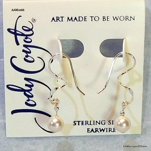 56f385b86 Jody Coyote Sterling Silver Spiral Austrian Crystal Bead Hook Earrings for  sale online | eBay
