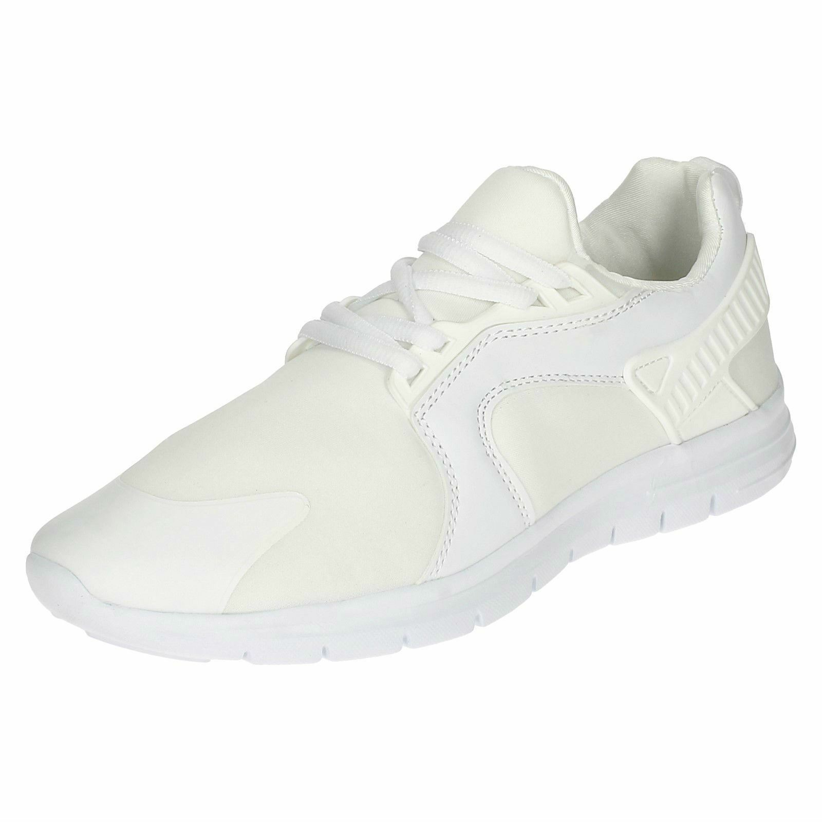 New Men's Blanc Renagade Blanc Men's Super Poids Léger À Lacets AIR TECH Baskets Taille UK 8 d8d289