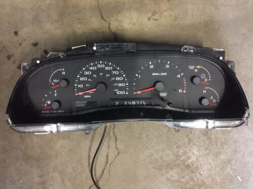 2003-2004 Ford F250 F350 Super Duty Truck Excursion Diesel Speedometer Cluster