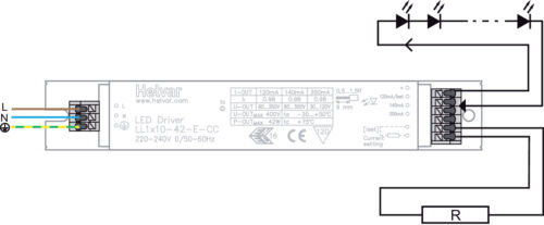HELVAR Professional LED Driver Alimentatore 18w 20w 30w 40w Max corrente costante