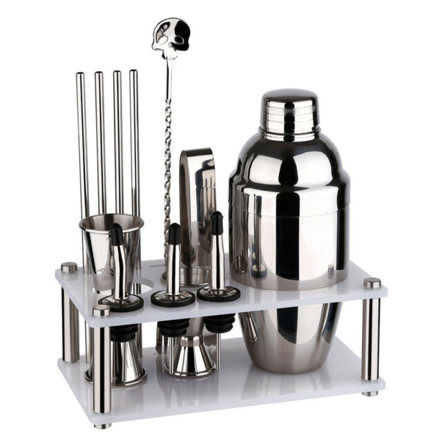 Greenhill Barware Bar Tool Set 12 Pieces Bartender Kit Includes Shaker 550ml