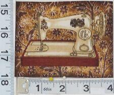 FOUR Different Vintage Sewing Machine Iron On Applique Fabric Blocks Classics