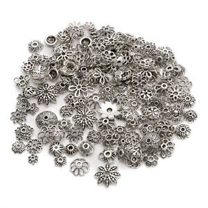 Wholesale-150pcs-Lot-Mixed-Jewelry-Making-DIY-Tibetan-Silver-Flower-Bead-Cap-AW