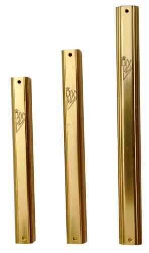 "Aluminum Mezuzah Case For Scroll 10\12\15CM 3.9\4.7\5.9/"" Judaica Gold Color"