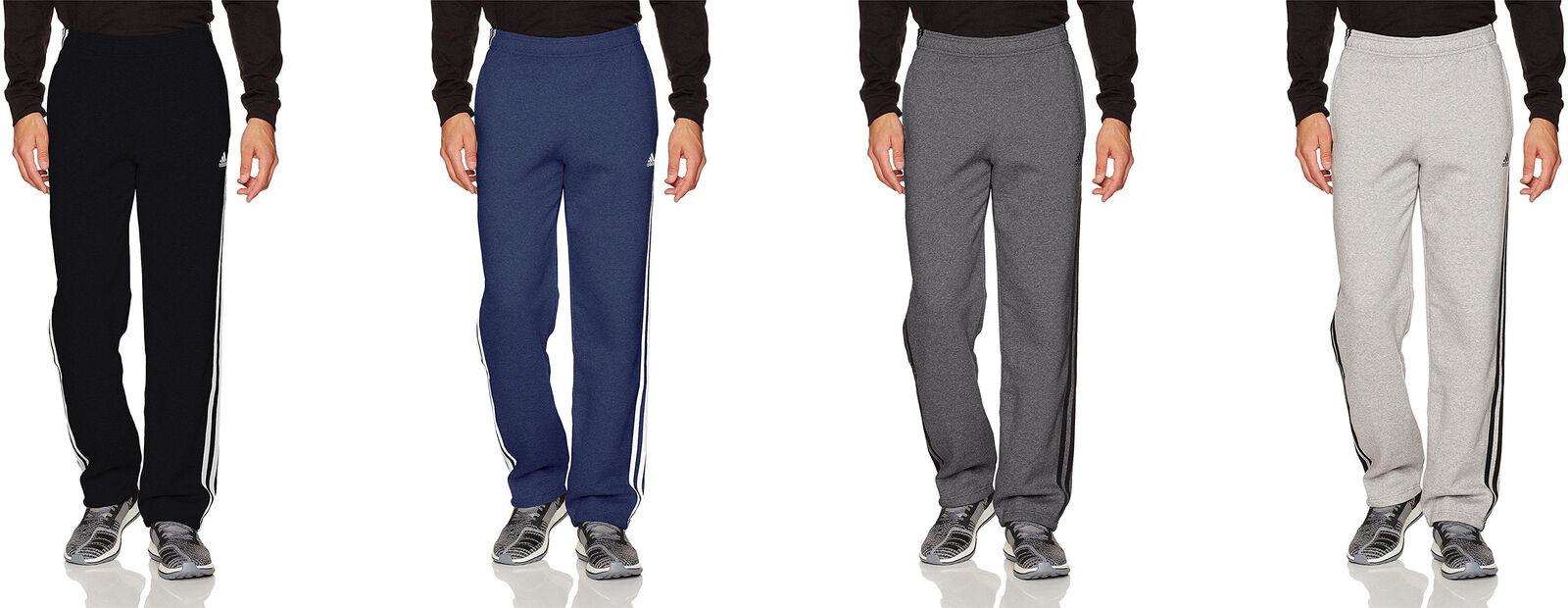 Details about adidas Men's Essentials 3 Stripe Regular Fit Fleece Pants, 4 Colors