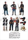 PLANCHE UNIFORMS PRINT WWII France Gendarmerie Sapeurs-Pompiers Gendarmes A