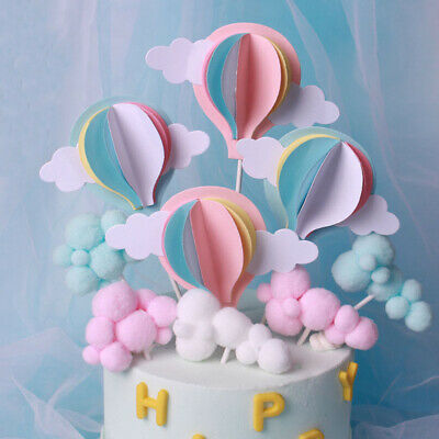 Pleasant 3Pcs 6Pcs White Cloud Birthday Cake Toppers Kids Baby Boy Girl Diy Funny Birthday Cards Online Alyptdamsfinfo